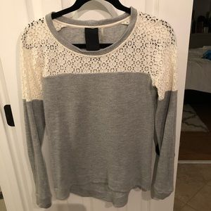 Nordstrom lace detailed sweatshirt